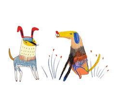 dogs by Ashley Percival. illustration - art - design - dogs - illustrator - designer