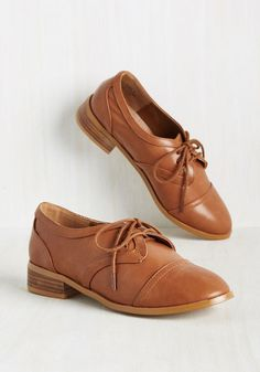 Scholastic Tac Toe Flat - Brown, Solid, Work, Casual, Menswear Inspired, 50s, Scholastic/Collegiate, Minimal, Fall, Better, Lace Up, Brown, Saturated, Low