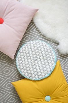 A modern DIY cross-stitched cushion to add texture to your home decor space! - sugar and cloth