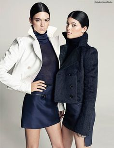 kendall kylie jenner9 Sister Act: Kendall + Kylie Jenner Pose for Marie Claire Latin America by Vladimir Marti