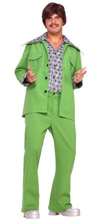 Click Image Above To Buy: Green Leisure Suit 70's Costume - Seventies Costumes