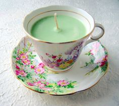 From tea to tea light — your antique teacup could make the perfect candle. | 11 Genius Second Uses For Your Favorite Collectible Items
