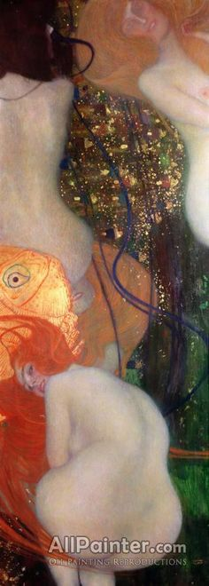 Gustav Klimt,Goldfish oil painting reproductions for sale