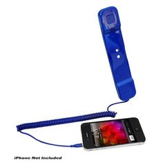 Handset for iPhone, iPad, iPod, and Android Phones - Easy Use - Blue