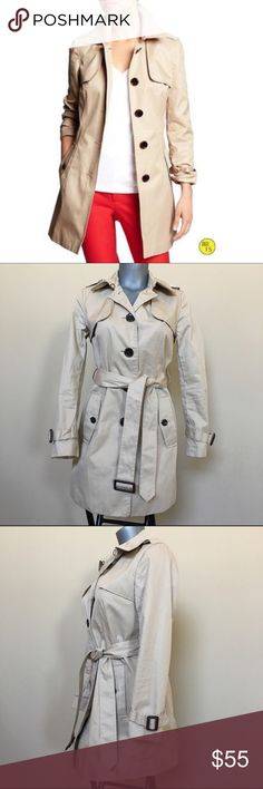 Banana Republic Trench Coat In like new condition as i've never worn this. Resembles to what model is wearing on first photo minus the belt. Size is Small Petite. Banana Republic Jackets & Coats Trench Coats
