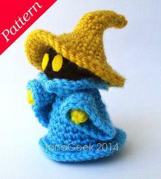 Final Fantasy-inspired Black Mage Amigurumi Doll Crochet