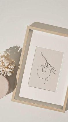 Beige Aesthetic, Flower Aesthetic, Kitchen Prints, Botanical Wall Art, Lemon Print, Diy Wall Art, Botanical Illustration, Aesthetic Pictures, Printable Wall Art