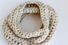 Here's our quick and easy one skein Chunky Crochet Cowl. It's an infinity scarf crocheted in the round, making it fun and easy to wear anytime, anywhere!
