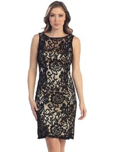 Lace Overlay Cocktail Dress. Style #: S8751. Www.SungBoutiqueLA.com