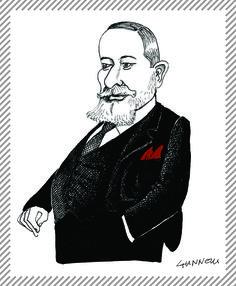 Davide Campari, 1867 - 1936. Ereditò il mitico Caffè Campari in Galleria, nel 1904 avviò la produzione del Bitter e del Cordial. #AlbumMilano #Campari #bitter