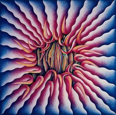 Judy Chicago Female Rejection drawing (Peeling Back) from the Rejection Quintet 1974 Prismacolor on rag paper, x Collection of African American Artist, Female Painters, Conceptual Artist, Chicago Print, Art History, Feminist Artist, Female Artists, American Artists, Abstract Painters