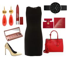 """Black and Red Outfit"" by rachel-sari-mutiara-sianipar on Polyvore featuring ELLIOTT LAUREN, Revlon, Prada, Yves Saint Laurent, Urban Decay, Newgate and Dolce&Gabbana"