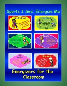 classroom energizer 6 classroom games you can use to help re-energize your students to get them ready for learning again.