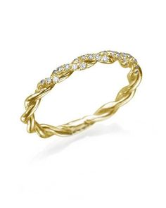Vintage Wedding Rings for Women with 0.10ct Diamonds in Yellow Gold