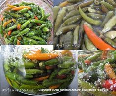 Piments confits Mauritian Food, Creole Recipes, Jamaican Recipes, Indian Dishes, Chutney, Food For Thought, Green Beans, Side Dishes, Food And Drink