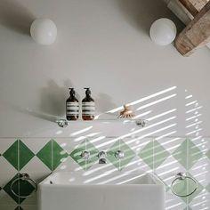 White Globe Flush Mount Lights , As bathroom wall lights. Industrial Style Lighting, Vintage Lighting, Bathroom Wall Lights, Light Bathroom, Air B And B, Flush Mount Lighting, Bathroom Styling, Lighting Design, Globe