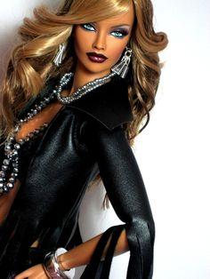 Chic Chic, Fashion Royalty Dolls, Fashion Dolls, Diva Dolls, Dolls Dolls, African American Dolls, Afro, Beautiful Barbie Dolls, Black Barbie