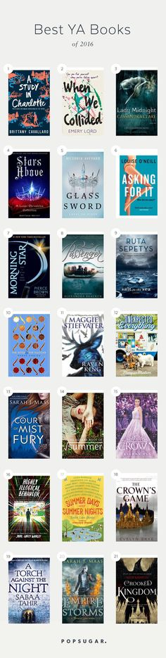 The best YA Books you should be reading this year. Best Teen Books, Popular Teen Books, Popular Book Series, Best Novels 2016, Best Love Novels, Best Fantasy Novels, Teen Fantasy Books, Books You Should Read, Books That Are Movies