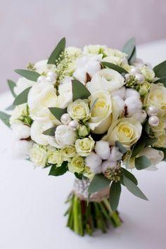 Букет невесты ЭЛИАН. Хлопок, ранункулюс, роза, эвкалипт #flowerbox #lejardinbotanique #студияjardin #wedding #bouquet