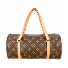Pre-Owned Womens Louis Vuitton 100% Authentic Papillon 26 Tote Bag ($225) ❤ liked on Polyvore featuring bags, handbags, tote bags, brown, tote purse, zip top tote bag, zip top tote, white handbags and louis vuitton tote
