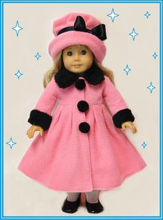 18 Doll Clothes PDF Sewing Pattern Doll Coat and by alenamokhan