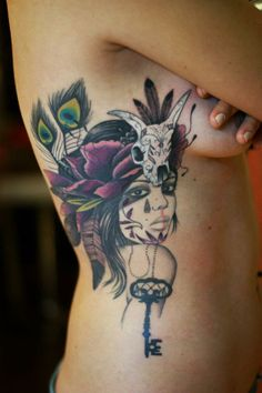 Tattoo by Dodie....this is so beautiful  along the lines of what i would like for my next.