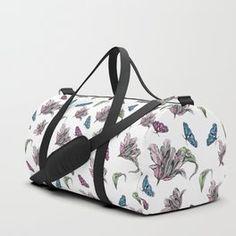 Tulips and Butterflies Duffle Bag Tech Accessories, Tulips, Butterflies, Gym Bag, Bags, Design, Fashion, Handbags, Moda