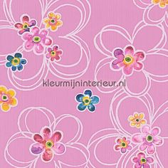 Grote en kleine bloemen behang 304602, Boys and Girls 5 van AS Creation