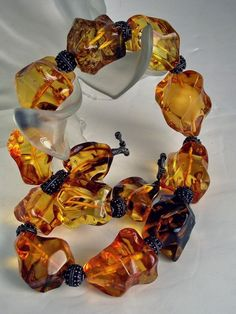 "238gr 24"" Authentic 1190ct Baltic Amber Nugget & Silver Necklace  TIME to OFFER! #StrandString"