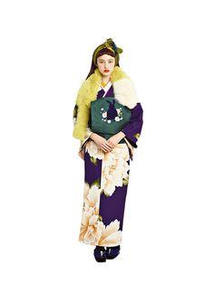 ふりふ2016 小紋「CAROL」 京袋帯「椿うさぎ」