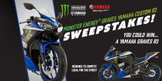 You could be the winner of a new Yamaha Graves R3 designed to compete legal for the street! ARV: $10,000None