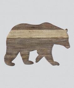 Another great find on #zulily! Wood Bear Cutout Wall Art #zulilyfinds