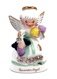 vintage Napco November Angel figurine