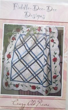 Crazy Old Roses quilt pattern, Fiddle-Dee-Dee-Designs by QuiltiliciousFabric on Etsy