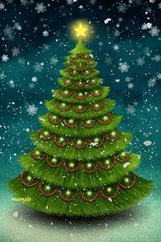 Life is beautiful! Christmas Tree Gif, Xmas Gif, Merry Christmas Pictures, Christmas Scenery, Merry Christmas Wishes, Christmas Mood, Christmas Greetings, Vintage Christmas, Christmas Bulbs