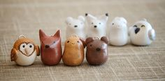 WINTER SPECIAL / Handmade Polymer Clay Animals / Christmas Tree Ornaments: Woodland Animal Collection/ OOAK