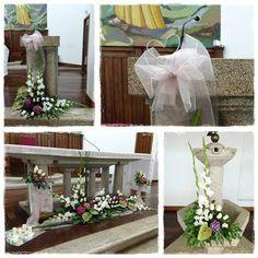 flores : fóruns | O Nosso Casamento Ladder Decor, Table Decorations, Flowers, Wedding, Home Decor, Large Flower Arrangements, Modern Floral Arrangements, Church Flower Arrangements, Sagrada Familia