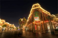 Closing Coca Cola Corner Closing up shop anywhere can be a grueling and tedious job, but closing the Coca Cola Corner on Main Street, that'. Disneyland Main Street, Disneyland Resort, Always Coca Cola, Beautiful Sky, After Dark, Disney Love, Disney Parks, First Night, Big Ben