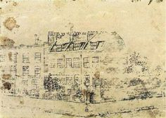 Vincent van Gogh - Early work ~ Vincent's Boarding House in Hackford Road, Brixton, London, 1873 Vincent van Gogh - All works chronologically