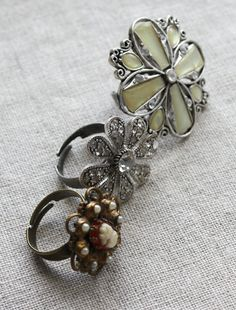Make your own ring from old brooch
