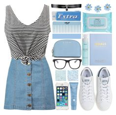 """Never regret anything that made you smile."" by xcuteniallx ❤ liked on Polyvore featuring Boohoo, WithChic, adidas, Thalgo, MICHAEL Michael Kors, STELLA McCARTNEY, kikki.K, Napoleon Perdis and Fallon"