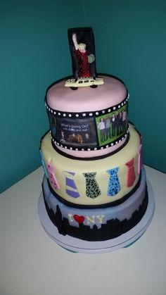 New York City themed birthday cake.