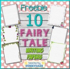 Fairytale writing paper