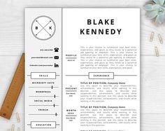 Attractive Monogram Resume Template Modern Resume By ResumeTemplateStudio