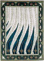 Finnish Art Nouveau rug Liekki (= flame) design by Akseli Gallen-Kallela to Paris World Fair Diy Carpet, Magic Carpet, Art Nouveau, Art Deco, Rya Rug, Flame Design, Rug Hooking, Carpet Runner, Soft Furnishings