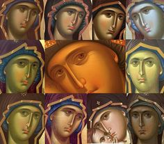 Madre Byzantine Art, Virgin Mary, Faeries, Fresco, Madonna, Notre Dame, Christian, Face, Movie Posters