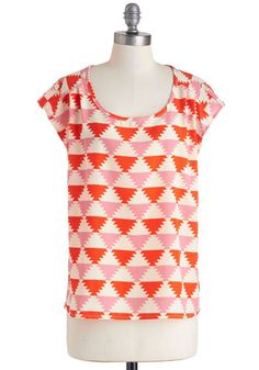 It's All Falling Into Shape Top, #ModCloth
