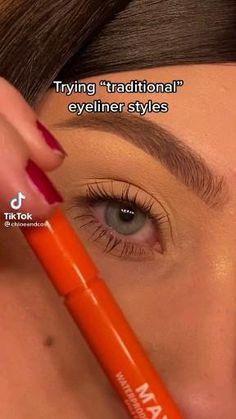 Edgy Makeup, Makeup Eye Looks, Eye Makeup Steps, Eyeliner Looks, Eye Makeup Art, Simple Makeup, Skin Makeup, Natural Makeup, Natural School Makeup