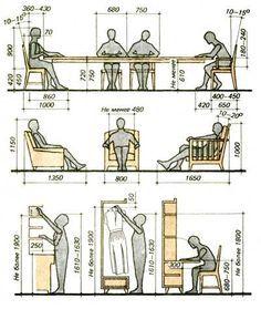 Оптимальные размеры мебели при разработке чертежей » VSE-SAM.ru - Сделай сам своими руками поделки, самоделки