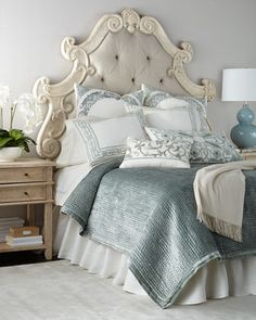 Shop Hughes Tufted King Headboard at Horchow, where you'll find new lower shipping on hundreds of home furnishings and gifts. Headboards For Beds, Headboard Ideas, Bedroom Ideas, Bedroom Decor, Handmade Headboards, Mantle Headboard, Fabric Headboards, Bedroom Styles, Bedroom Inspiration